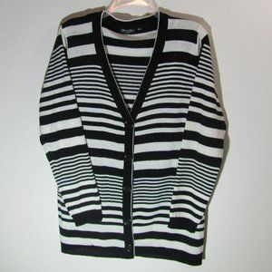 Brittany Black Stripe Cardigan